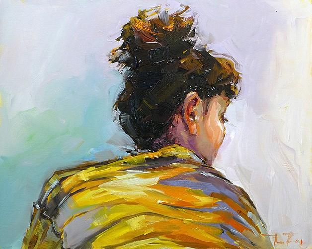 """""""Modell"""" original fine art by Jurij Frey"""