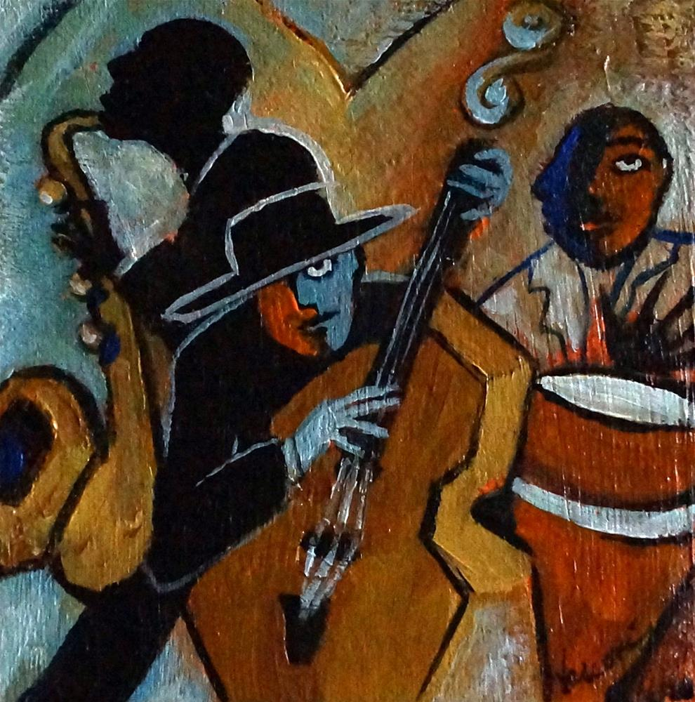 """Jazz Trio"" original fine art by Valerie Vescovi"