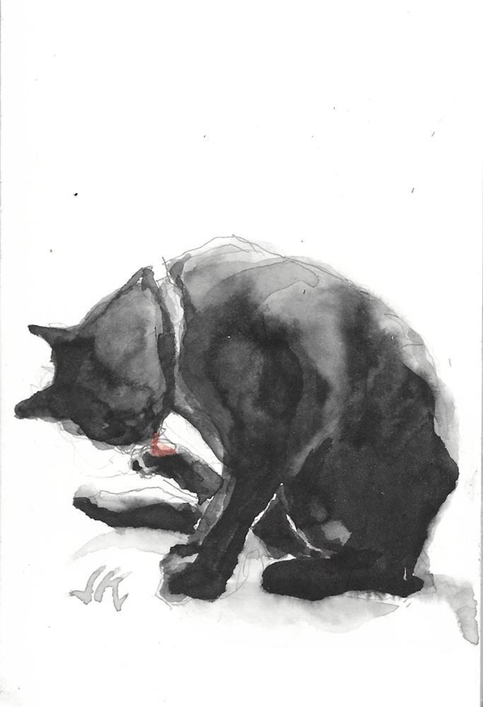 """Daily Cat 179"" original fine art by Jean Krueger"
