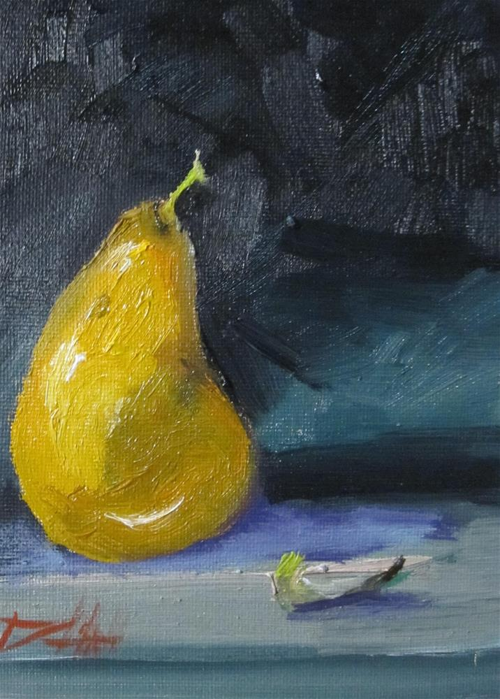 """Pear No. 11"" original fine art by Delilah Smith"