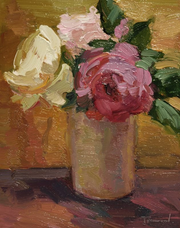 """Three Roses"" original fine art by Kathryn Townsend"