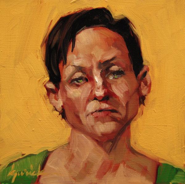 """100 Faces, No. 87"" original fine art by Karin Jurick"