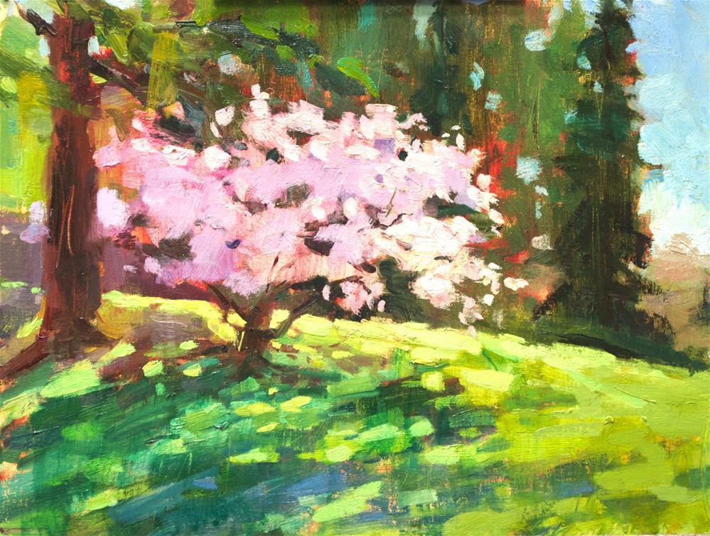 """""""Sakura Bloom"""" original fine art by Emiliya Lane"""