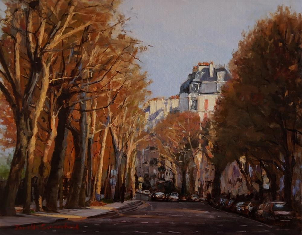 """Paris Boulevard"" original fine art by Jonelle Summerfield"