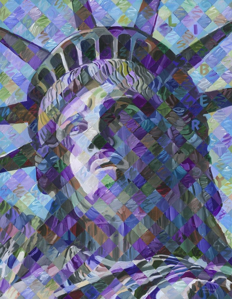 """Lady Liberty"" original fine art by Randal Huiskens"