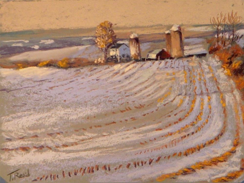 """""""New Jersey farm"""" original fine art by Toby Reid"""