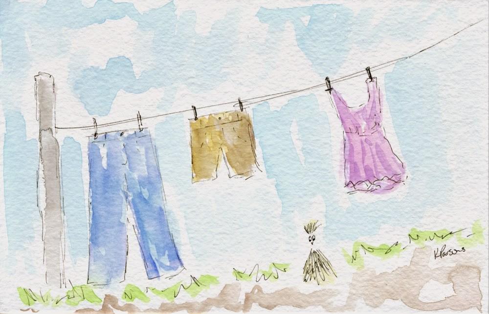 """Backyard Bliss"" original fine art by Kali Parsons"