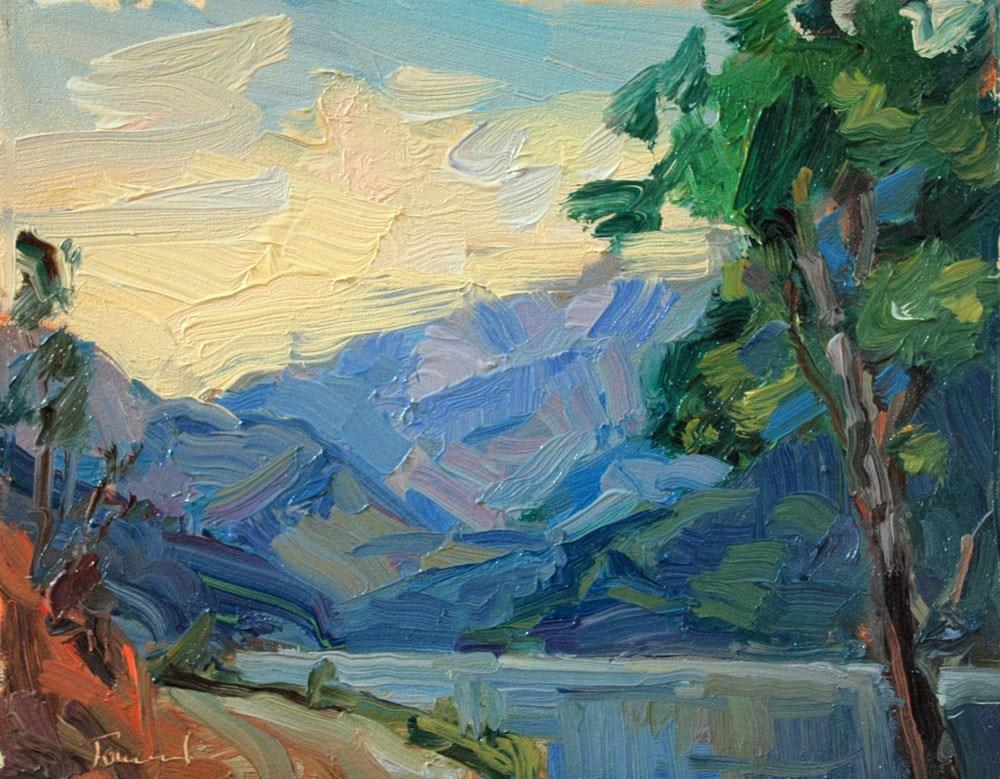 """""""South from Stehekin"""" original fine art by Kathryn Townsend"""