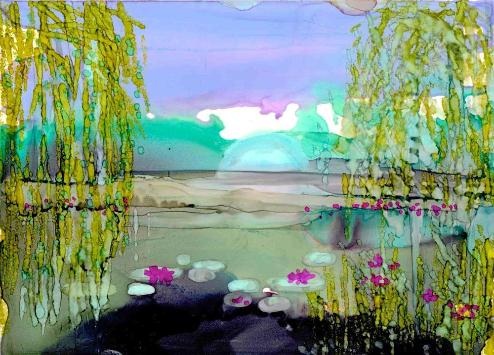 """Monet Pond"" original fine art by Kelly Alge"