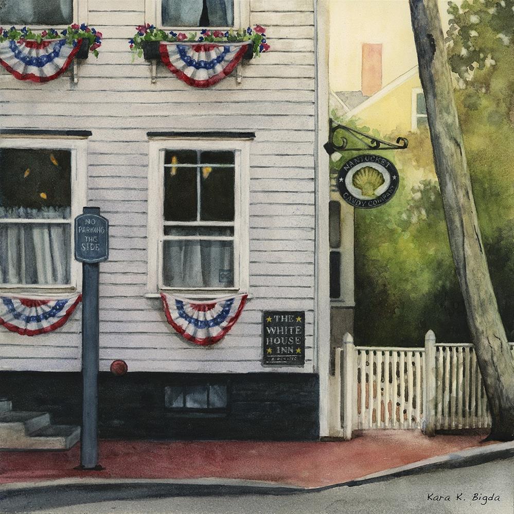 """Nantucket Candy Company"" original fine art by Kara K. Bigda"