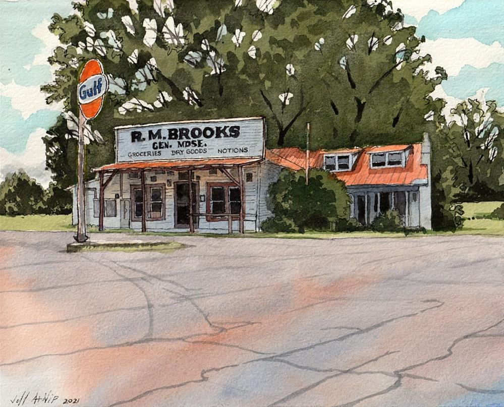 """General Store"" original fine art by Jeff Atnip"