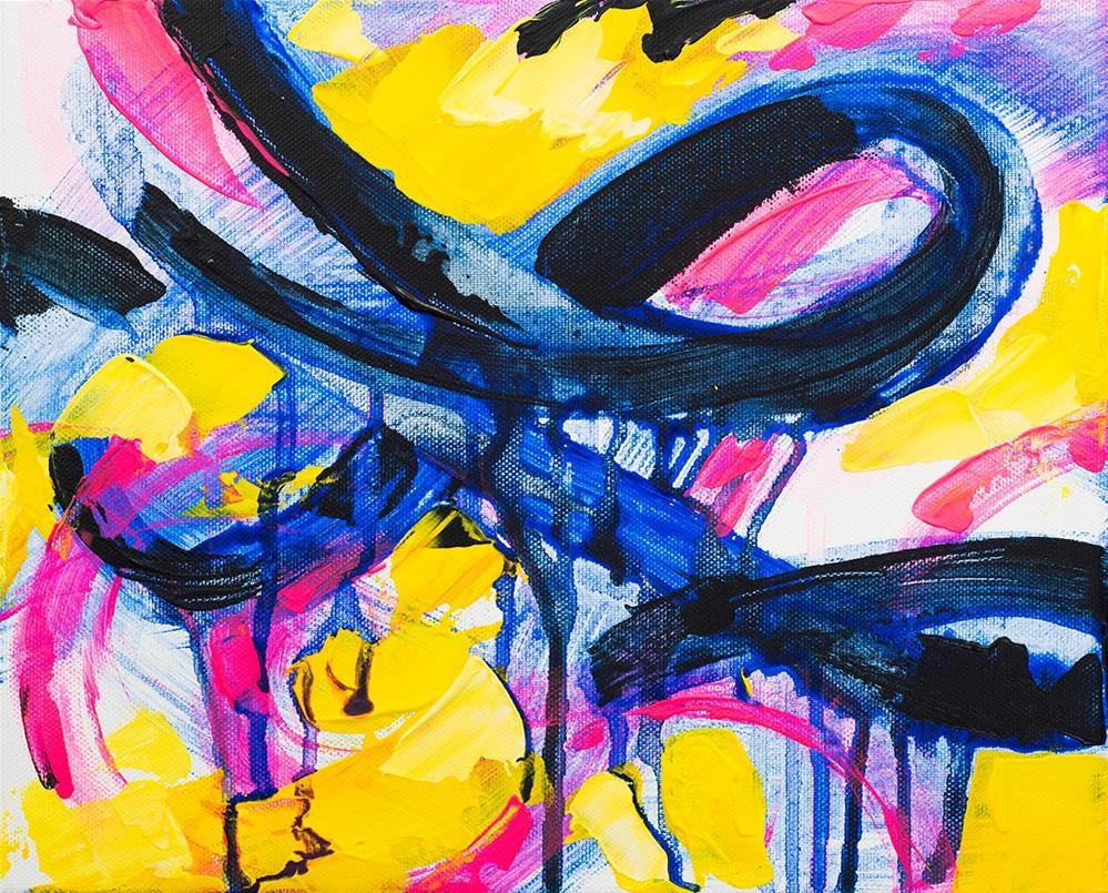 """Neon Infinity"" original fine art by Franziska Schwade"