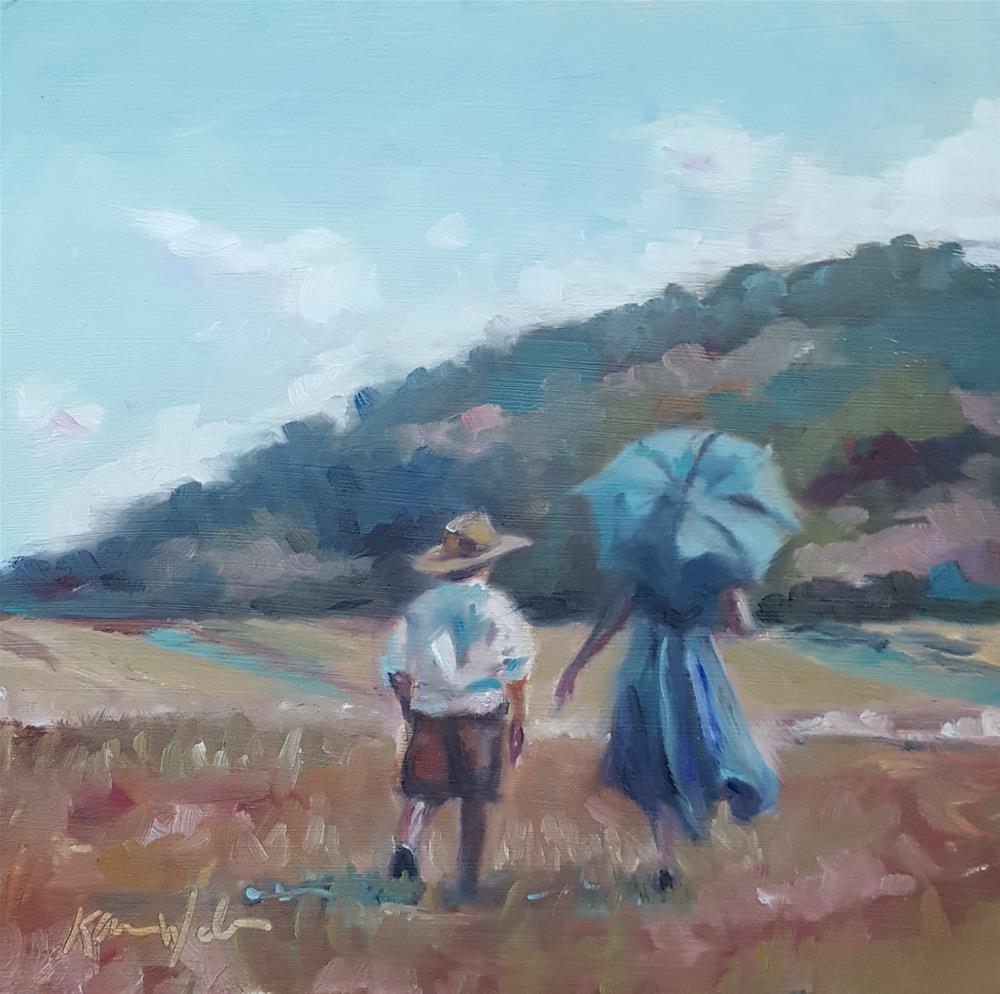 """Once in a While"" original fine art by Karen Weber"