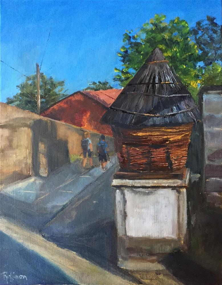 """Spanish Pigeon Coop"" original fine art by Renee Robison"