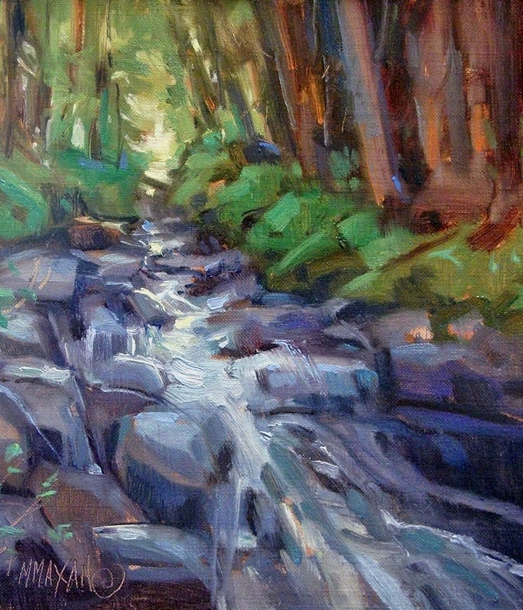 """Little Falls"" original fine art by Mary Maxam"