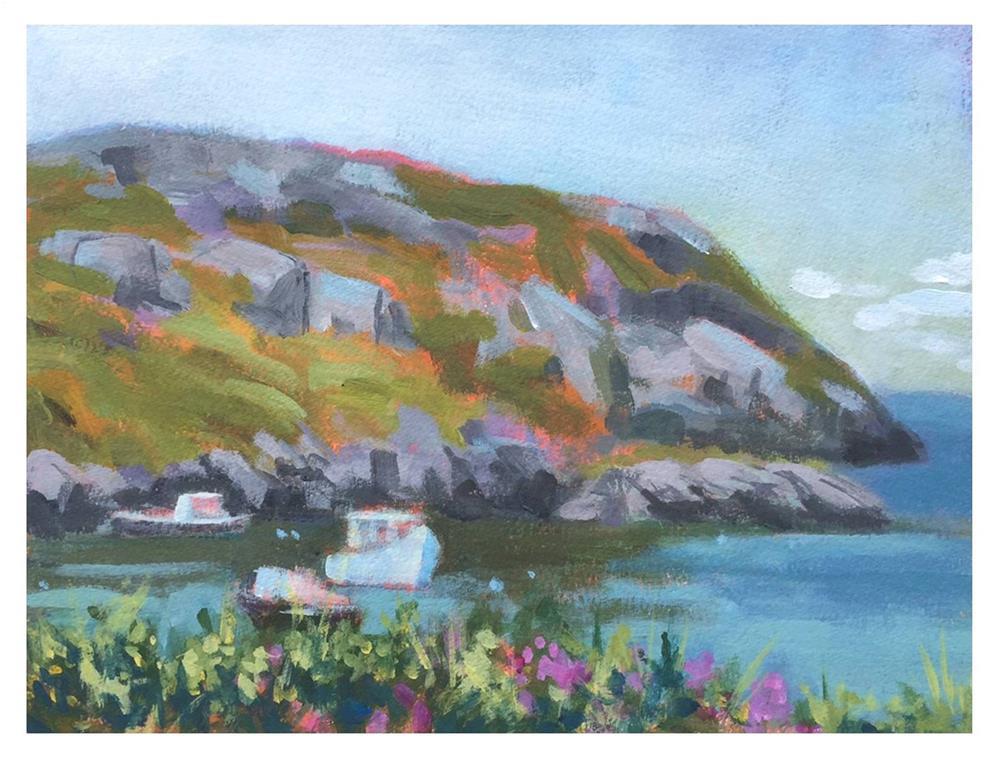 """Manana Island Afternoon"" original fine art by Suzanne Woodward"