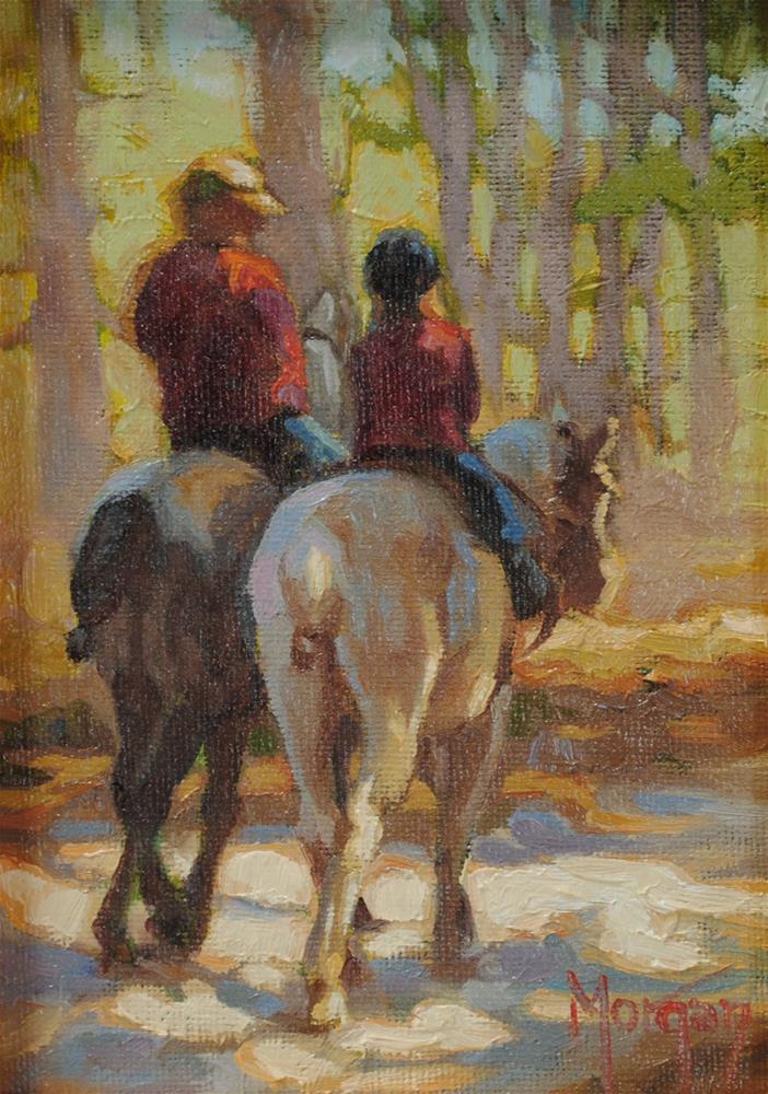 """Happy Trails #3"" original fine art by Cecile W. Morgan"