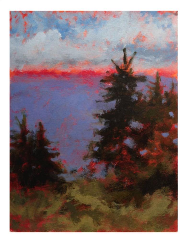 """""""Pink Horizon"""" original fine art by Suzanne Woodward"""