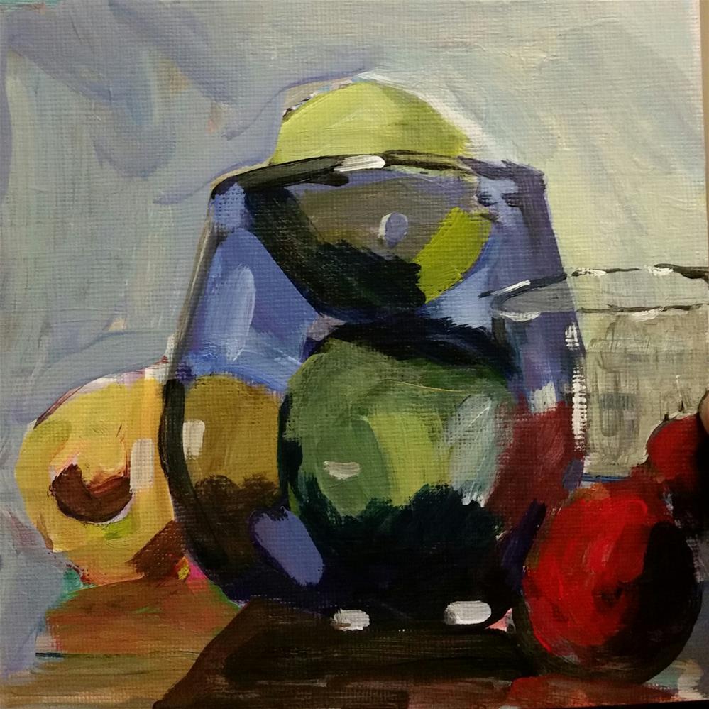 """Glass of Lime"" original fine art by Liz Maynes"