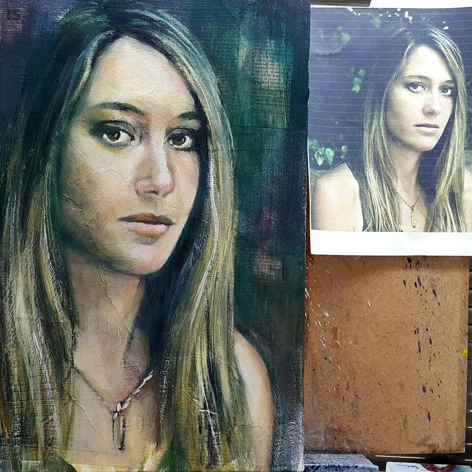 """Mia"" original fine art by Rentia Coetzee"