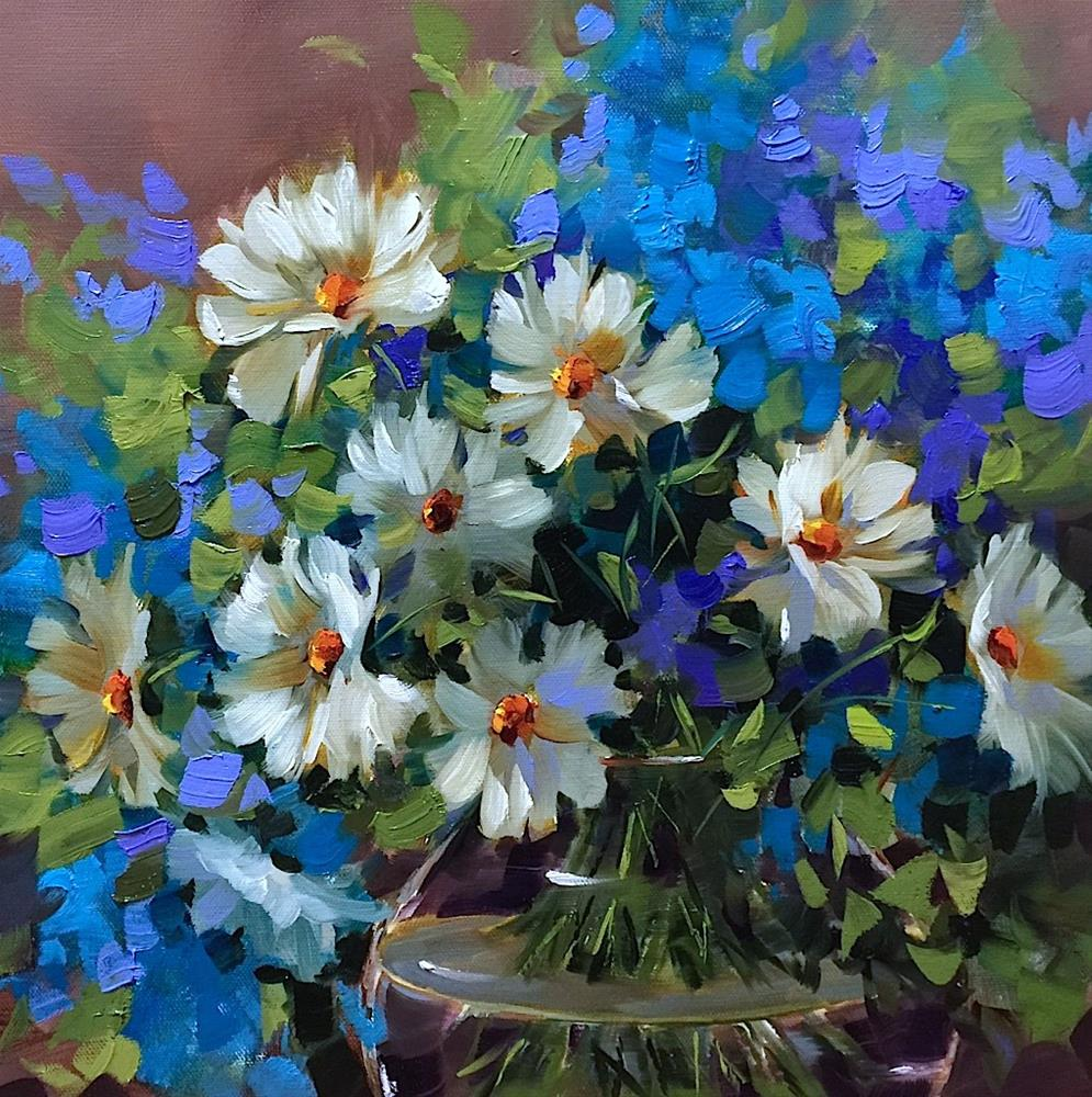 """""""Brilliant Color Is Open! Join me for Fall Classes Online!"""" original fine art by Nancy Medina"""