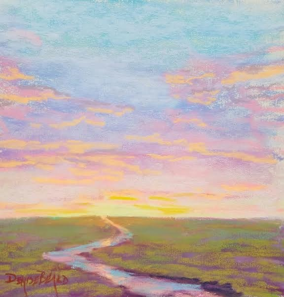 """""""Pastel Sky"""" original fine art by Denise Beard"""