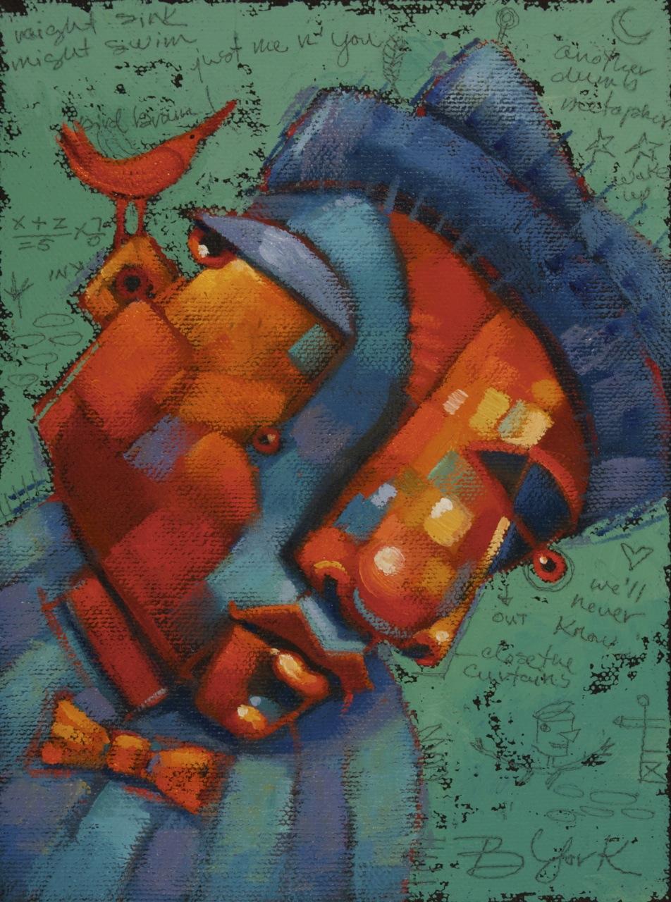 """Whispering Smith Flies The Coop"" original fine art by Brenda York"