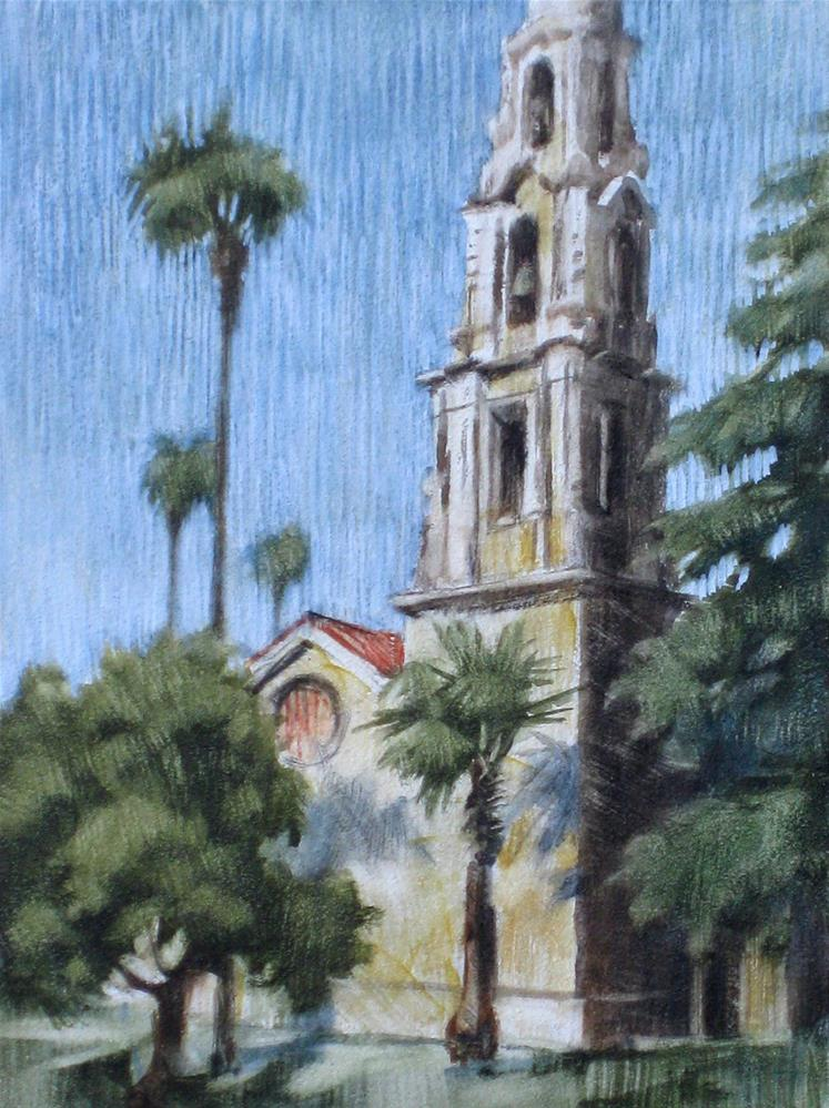 """Cathedral, Downtown Riverside"" original fine art by Ginger Pena"