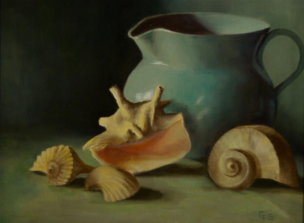"""""""Seashells"""" original fine art by G. G. Slockett"""