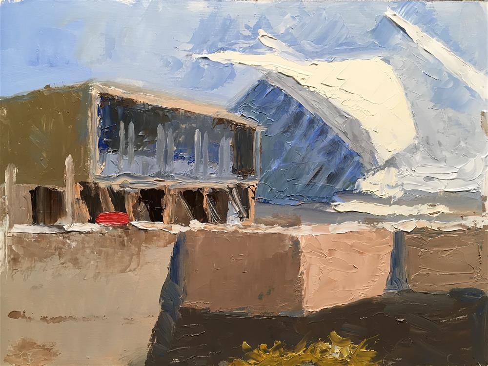 """""""278 Milwaukee Art Museum."""" original fine art by Fred Bell"""