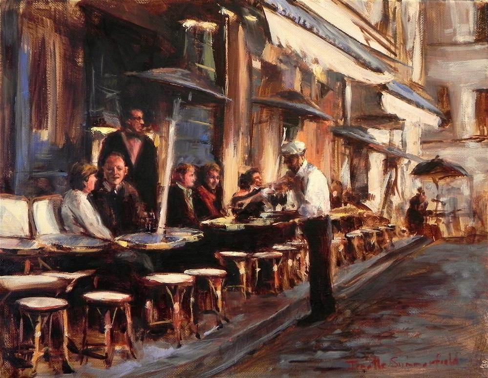 """Cafe in Montmartre III"" original fine art by Jonelle Summerfield"