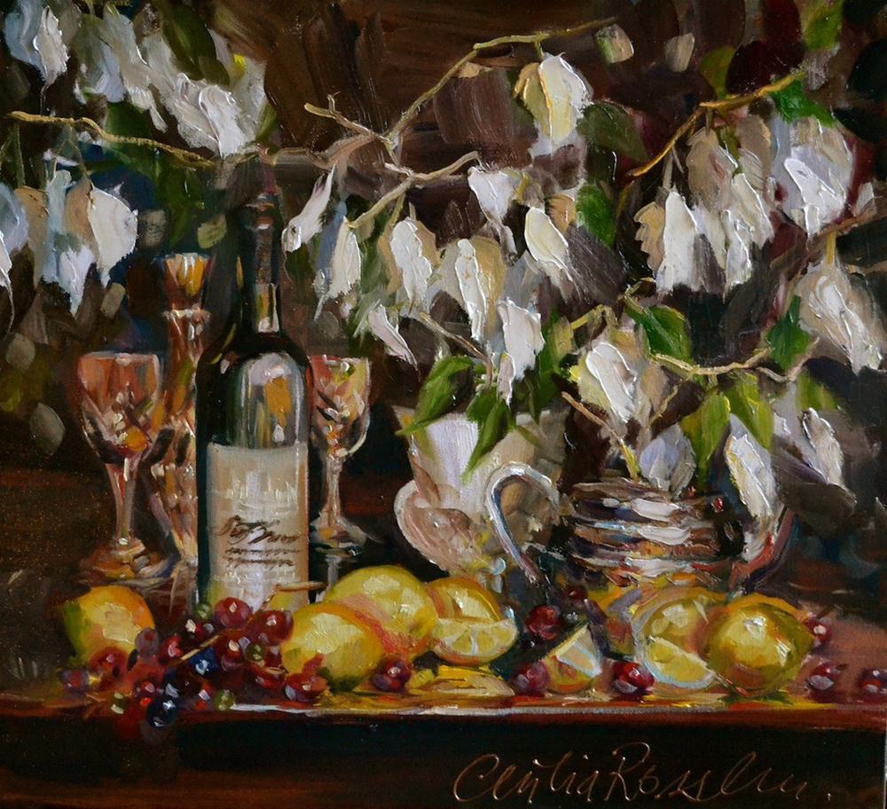 """SISTER MOON"" original fine art by Cecilia Rosslee"