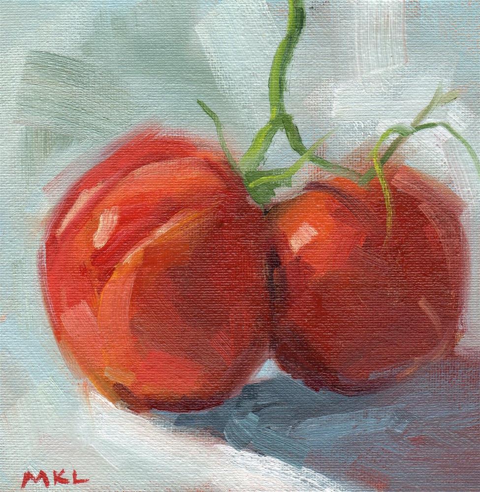 """""""Heirloom Tomatoes"""" original fine art by Marlene Lee"""