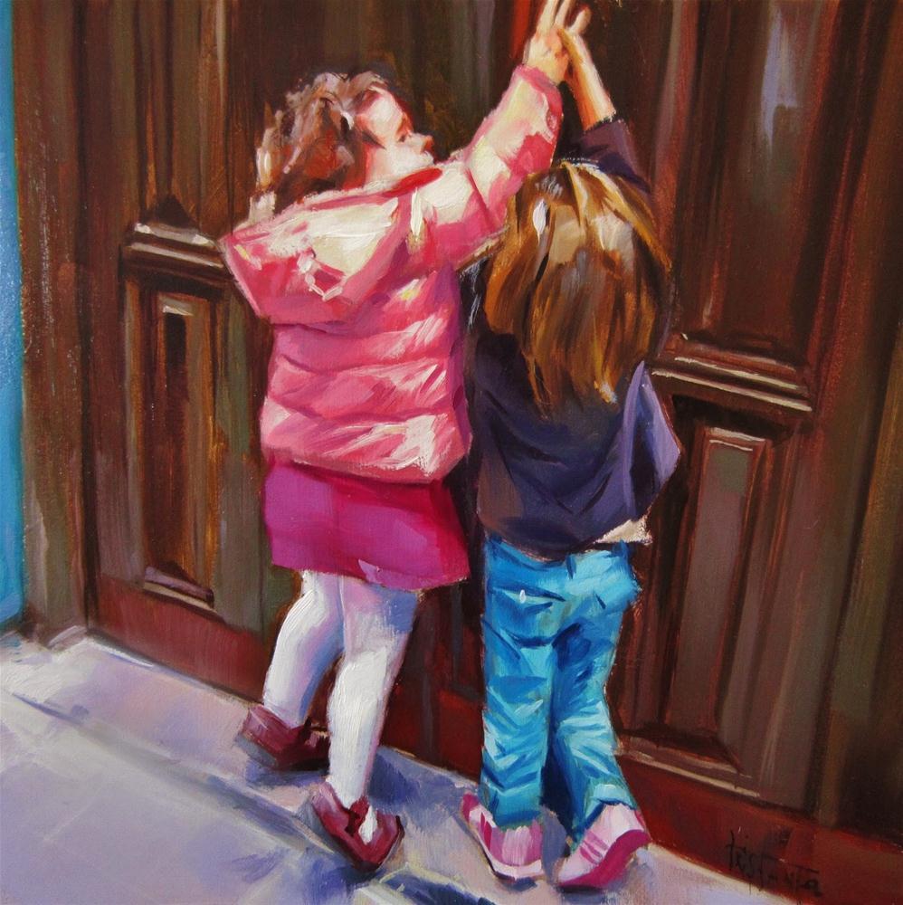 """Catching the latch"" original fine art by Víctor Tristante"