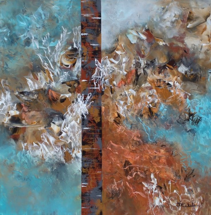 """""""Seaside Treasures"""" original fine art by Nancy Eckels"""