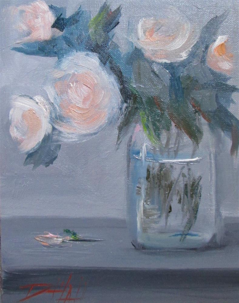 """Roses in a Jar No. 2"" original fine art by Delilah Smith"