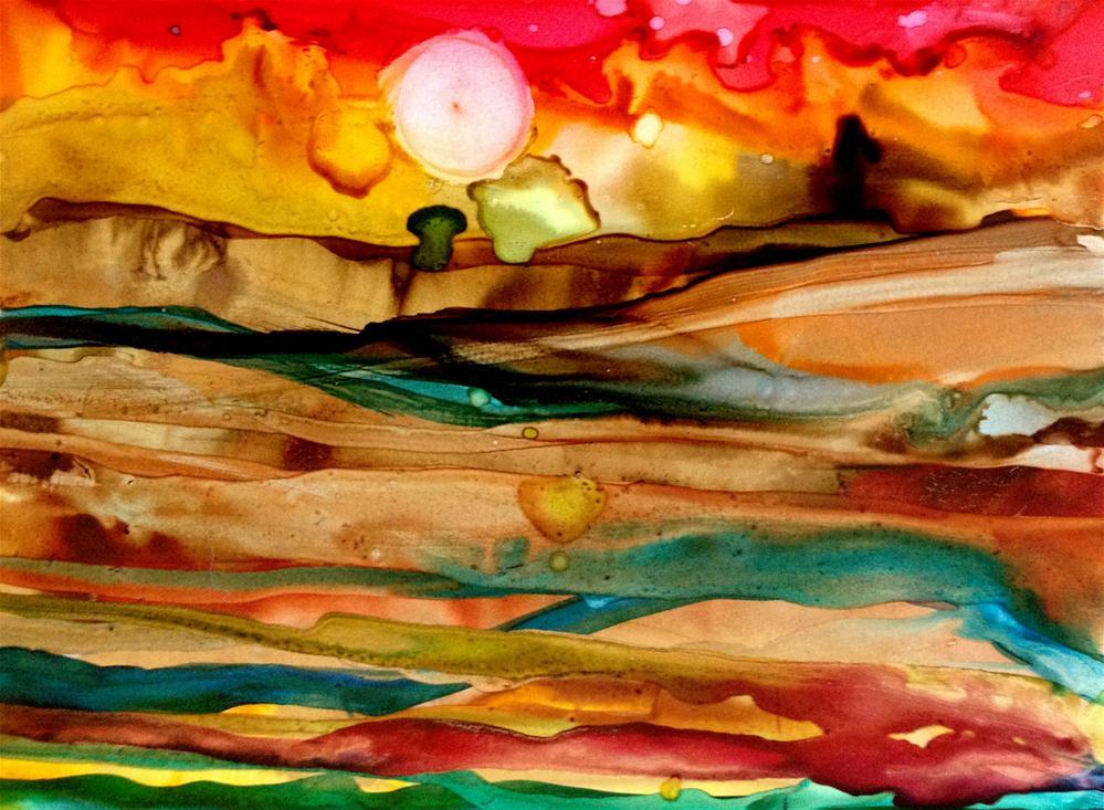 """Fruited Plain"" original fine art by Kristen Dukat"