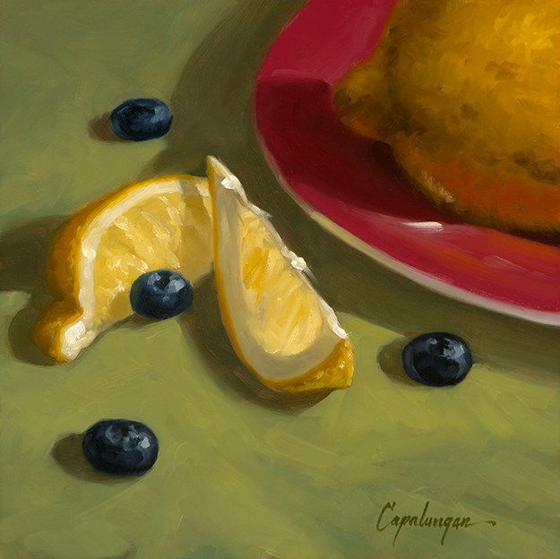 """Blueberry Lemonade"" original fine art by David Capalungan"
