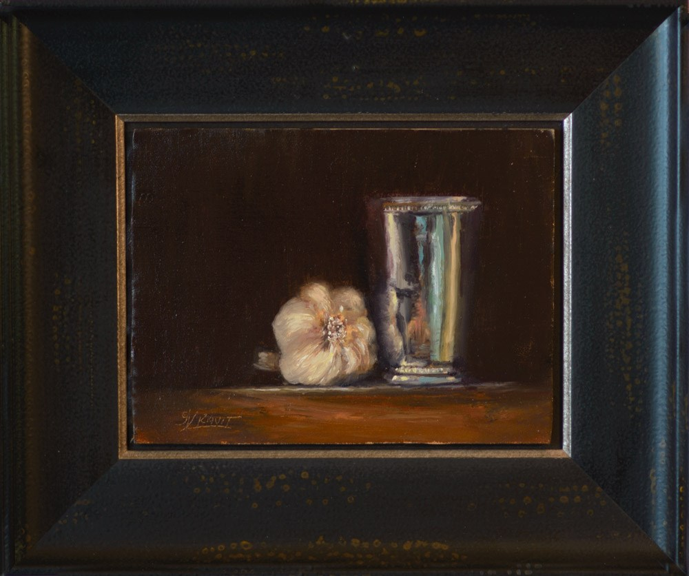 """""""Garlic and Silver Cup"""" original fine art by Garry Kravit"""