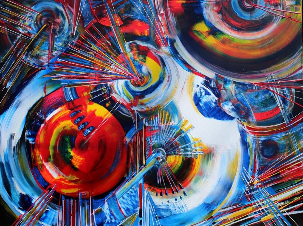 """Science and Spirituality"" original fine art by Khrystyna Kozyuk"