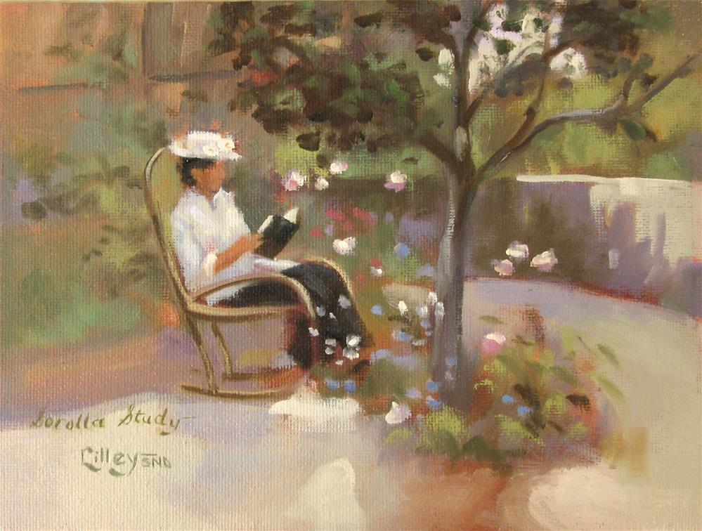 """Study of 'In the Garden' by Joaquin Sorolla"" original fine art by Maresa Lilley"