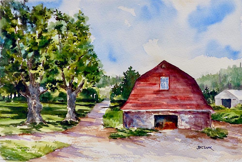 """Berkshire Barn"" original fine art by Judith Freeman Clark"