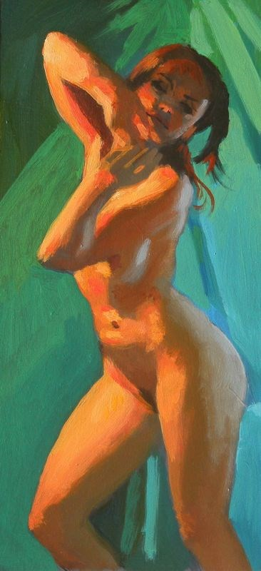 """Dynamic pose"" original fine art by Peter Orrock"