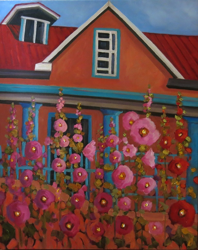 """THAT ONE HOUSE"" original fine art by Dee Sanchez"