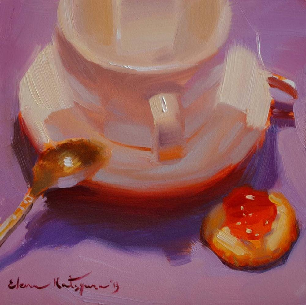 """Apricot Jam"" original fine art by Elena Katsyura"