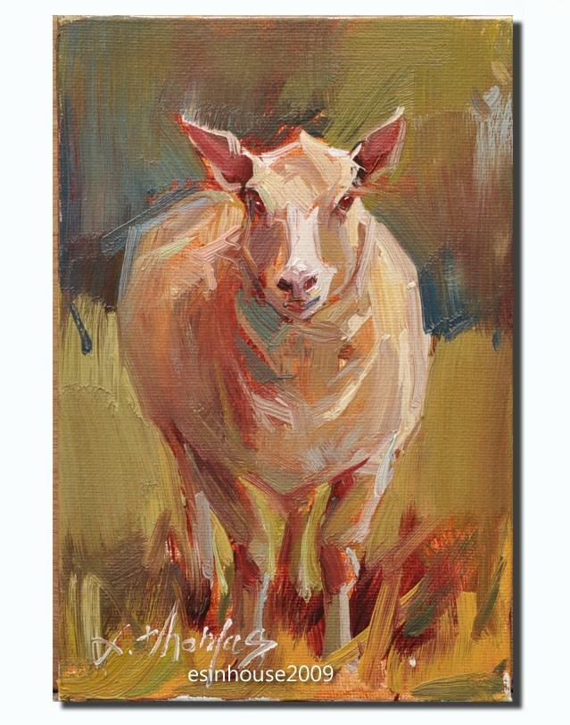 """Sheep"" original fine art by Thomas Xie"