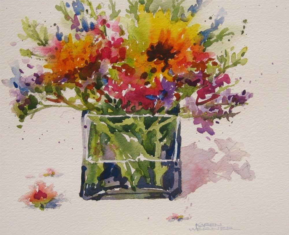 """Lucky Flowers"" original fine art by Karen Werner"