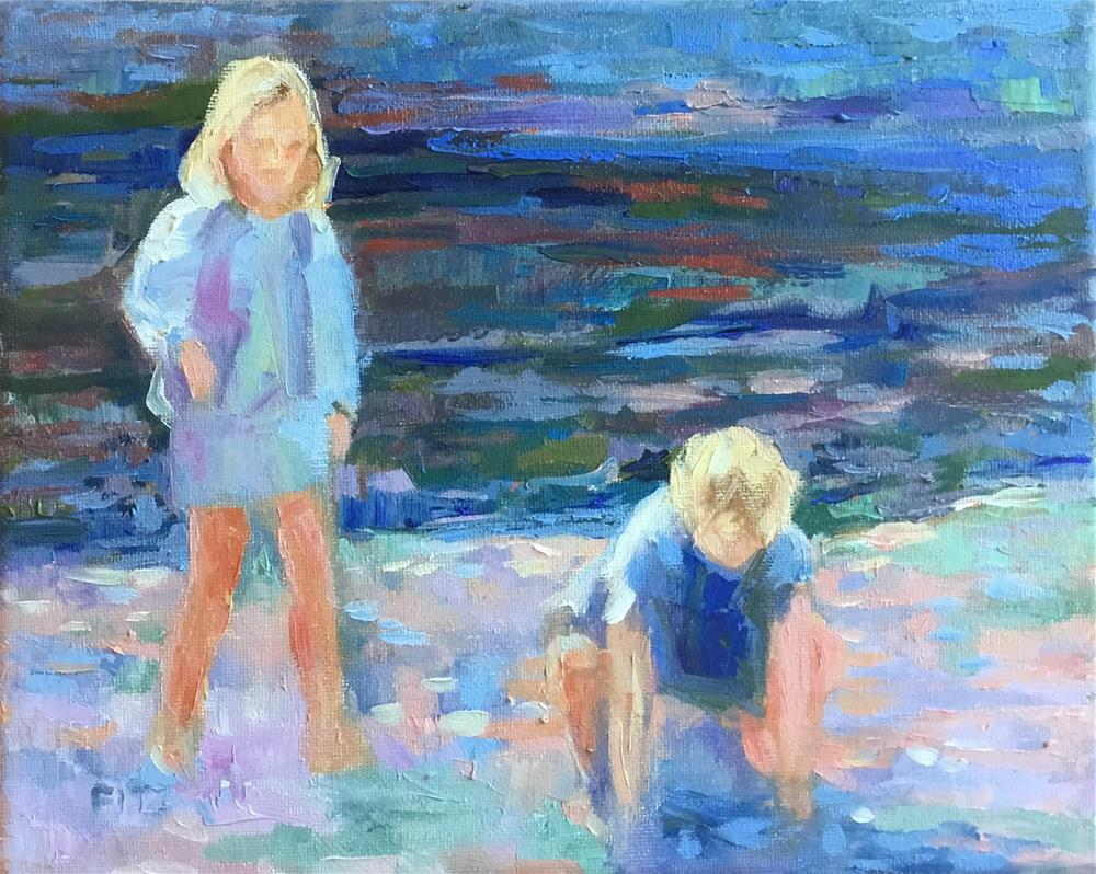 """On the Beach"" original fine art by Charlotte Fitzgerald"
