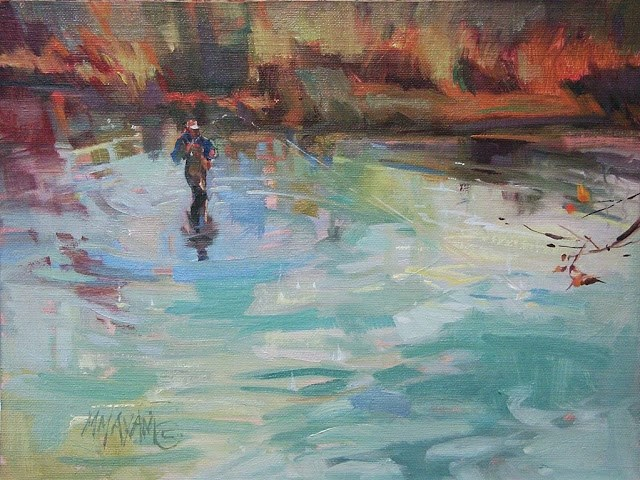 """""""You Should've Been There"""" original fine art by Mary Maxam"""