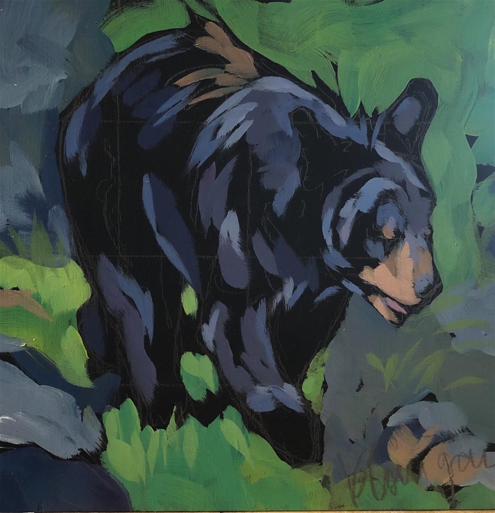 """Black Bear Strut"" original fine art by Kat Corrigan"